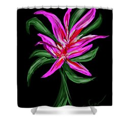 Shower Curtain featuring the digital art Passion Flower by Christine Fournier