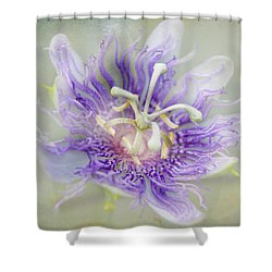 Passion Flower Shower Curtain by Judy Hall-Folde