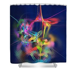 Passion Nectar - Circling The Flower Of Paradise Shower Curtain