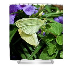 Passion Of The Butterflies Shower Curtain