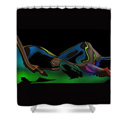 Shower Curtain featuring the digital art Possession by Maciek Froncisz