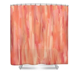 Passionate Peach Shower Curtain