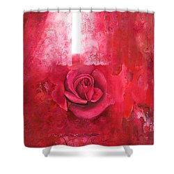 Shower Curtain featuring the painting Passionately - Original Art For Home And Office by Brooks Garten Hauschild