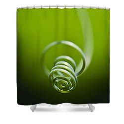 Passionflower Tendril Shower Curtain