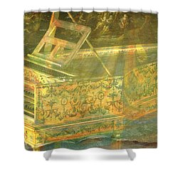 Shower Curtain featuring the mixed media Past To Present by Ally  White