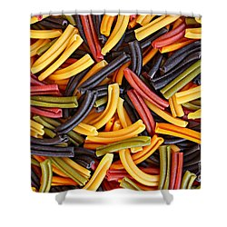 Pasta Lovers Shower Curtain by Clare Bevan