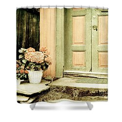 Pastel Colored Doorstep Shower Curtain