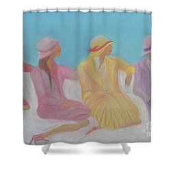 Pastel Hats By Jrr Shower Curtain by First Star Art