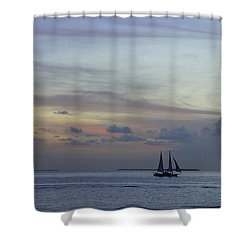 Shower Curtain featuring the photograph Pastel Sky by Laurie Perry