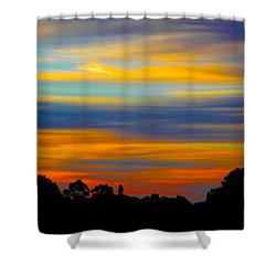 Shower Curtain featuring the photograph Pastel Sunrise by Mark Blauhoefer