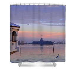 Pastel Uss Lexington Shower Curtain
