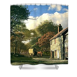 Pastoral Homestead Shower Curtain by Dominic Davison