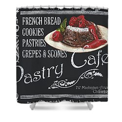 Pastry Cafe Shower Curtain by Debbie DeWitt