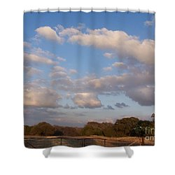Pasture Clouds Shower Curtain by Susan Williams