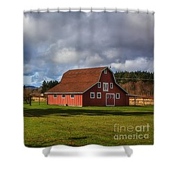 Shower Curtain featuring the photograph Pasture For Rent by Jean OKeeffe Macro Abundance Art