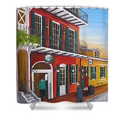 Pat O's Courtyard Entrance Shower Curtain