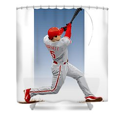 Pat The Bat Burrell Shower Curtain