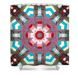 Patchwork Art Shower Curtain by Barbara Griffin