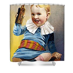 Patent Medicine, 19th C Shower Curtain by Granger