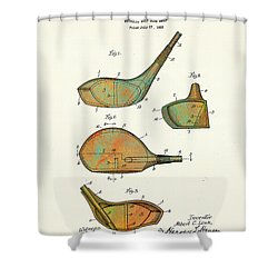 Patented Golf Club Heads 1926 Shower Curtain