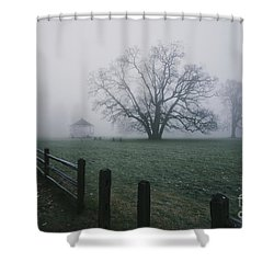 Path Along Park   Shower Curtain
