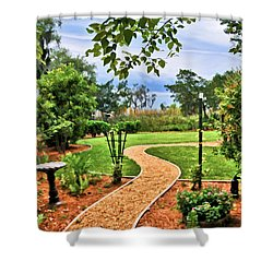 Garden Path To Wild Marsh Shower Curtain