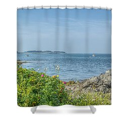 Shower Curtain featuring the photograph Path To The Cove by Jane Luxton