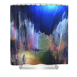 Pathfinder Shower Curtain by Francoise Dugourd-Caput