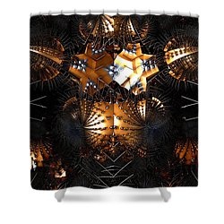 Shower Curtain featuring the digital art Paths Of Pain by Jeff Iverson
