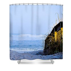 Pathway To Happiness Shower Curtain by Mary Ward