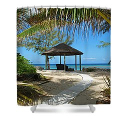 Pathway To Paradise Shower Curtain by Bob Sample
