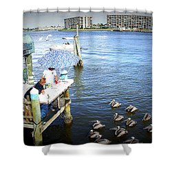 Shower Curtain featuring the photograph Patiently Waiting by Laurie Perry