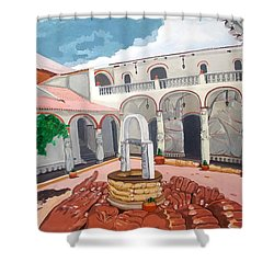Patio Colonial Shower Curtain
