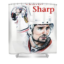 Patrick Sharp - The Cup Run Shower Curtain by Jerry Tibstra