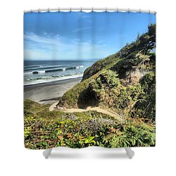 Patrick's Point Shower Curtain by Adam Jewell