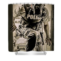 Patriot3 Second Floor Entry Shower Curtain by David Morefield