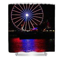 Patriotic Ferris Wheel Shower Curtain by Kym Backland