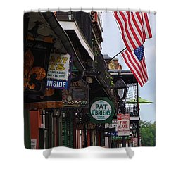 Patriotic Pat Obriens Shower Curtain by Margaret Bobb