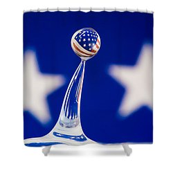Patriotic Pop Shower Curtain
