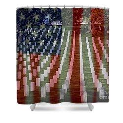 Patriotism Shower Curtain by Patti Whitten