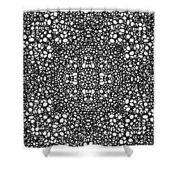 Pattern 42 - Intricate Exquisite Pattern Art Prints Shower Curtain by Sharon Cummings