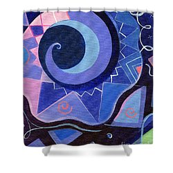 Pattern Power 2 Shower Curtain by Helena Tiainen