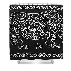Patterned Rhino Shower Curtain by Caroline Street