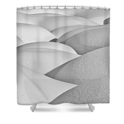 Patterns Of Shadow And Shape Created Shower Curtain by Ray Bulson