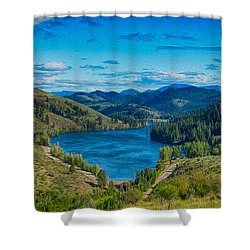 Patterson Lake In The Summer Shower Curtain by Omaste Witkowski
