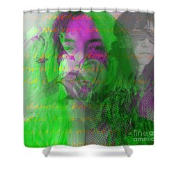 Patti Smith Dancing Barefoot Shower Curtain by Elizabeth McTaggart