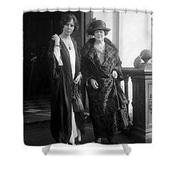Shower Curtain featuring the photograph Paul & Belmont, 1923 by Granger