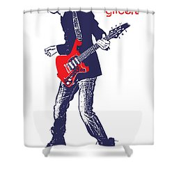 Paul Gilbert No.01 Shower Curtain by Caio Caldas