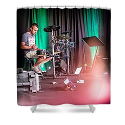 Paul Harvey, Drummer At Grace Shower Curtain