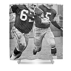 Paul Hornung Running Shower Curtain